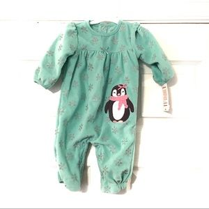 Just  One Year green penguin romper